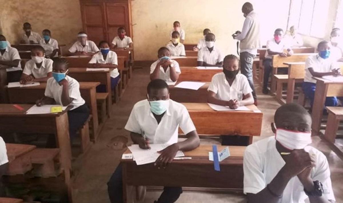 Pupils of Sainte Agnès school, August 2020. Credit: Jacques Taty.